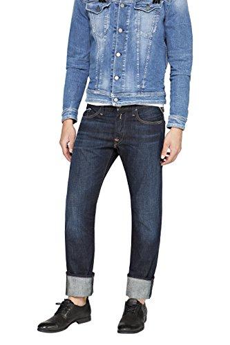 Replay Herren Regular Slim Leg Jeanshose WAITOM, Gr. W33/L32 (Herstellergröße: 33), Blau (Blue Denim 007)
