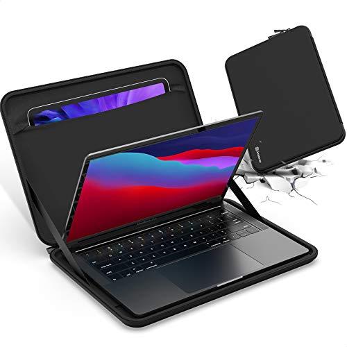 Smatree Macbook Pro 13 inch Laptop Case, Hard Shell Carrying Case for Macbook Pro 2016-2019 2020/ Macbook Air 2018 2019 2020 13.3 inch, with Pocket for iPad/iPad pro/iPad Air , Black