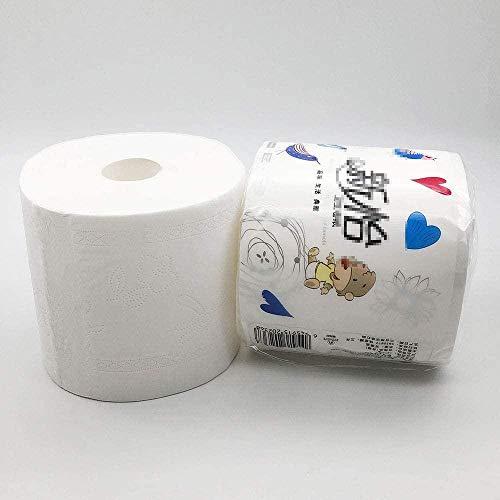 Umweltfreundliche Toilettenpapierrollen Hochwertige weiche Küchenrollen groß 5-lagig verdickende Toilettenpapierrollen Holzzellstoff 10 Rollen in einer Tüte Geeignet für die Toilette im Familienhotel