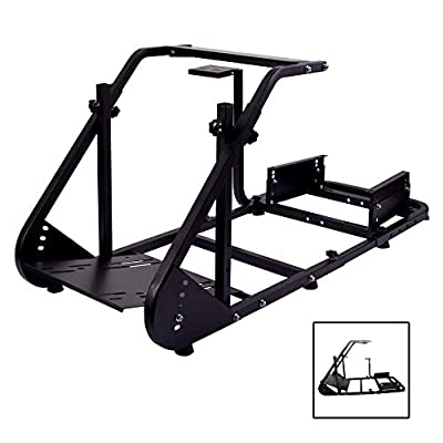 Marada Racing Wheel Simulator Stand Cockpit Suitable for G25 G27 G29 G920 Height Adjustable Racing Cockpit Frame Real Racing Seat Driving Simulator Cockpit Wheels,Pedals and Seat Not Included
