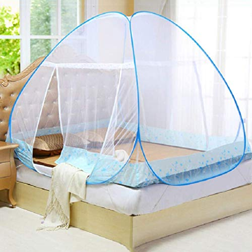 Anti Mosquito Nets, Folding Portable Mosquito Nettings, Pop Up Mosquito Net Bed Tent with Bottom, for Kids Adult (797159 Inch)