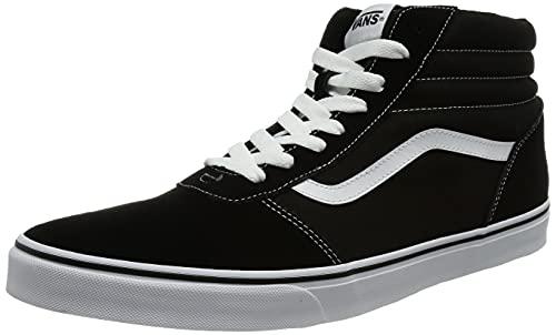 Vans Ward Hi, Sneaker Hombre, Negro (Suede/Canvas) Black/White C4R, 44 EU