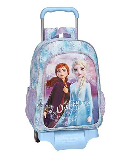TROLLEY ZAINO FROZEN II grande big SCUOLA Elsa my destiny's calling la chiamata del mio destino + Omaggio portachiave con paillettes