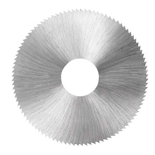 Sourcing Map HSS lama per sega, 80mm di diametro ruota di taglio circolare W 22mm Arbor