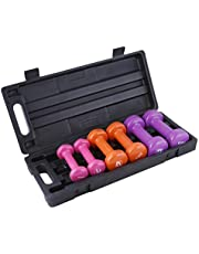 Liveup Sports LS2305-6KG Dumbbell Set, Multi Color