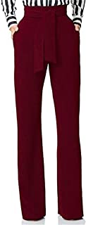 Women's Stretchy High Waisted Wide Leg Button-Down Pants