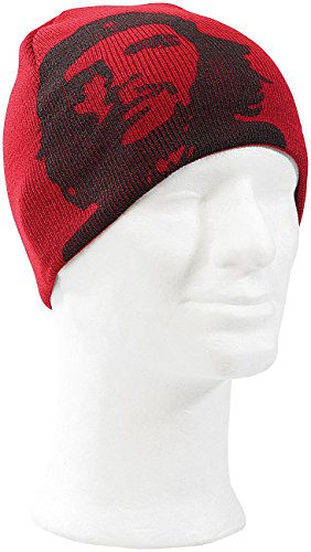 Che - Red Jacquard Knit Beanie