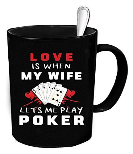 N\A Taza de café de póquer. Regalo Divertido de póquer.