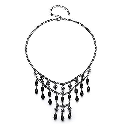 WDBUN Collar Colgante Conjunto de Pendientes de Collar en Forma de Gota Navidad Día de la Madre Día de San Valentín cumpleaños Regalo