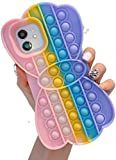 Compatible with iPhone 6 6S Case, Interesting Push-Type Case Bubble Toy, Can Relieve Anxiety and Autism, Stress Relief Tools for Kids and Adults (Rainbow 01, for iPhone 8 7/iPhone SE 2020)