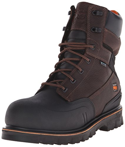 Timberland PRO Men's 8 Inch Rigmaster XT Steel Toe Waterproof Work Boot, Brown Tumbled Leather, 12 M US