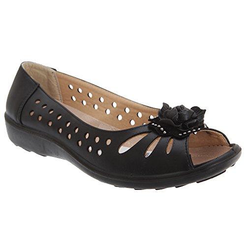 Boulevard ,  Damen Peep Toes , Schwarz - schwarz - Größe: 40