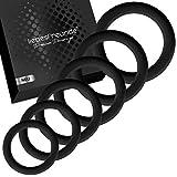 liebesfreunde® Penisring Set - Cockring Sexspielzeug für Paare zur Potenzsteigerung (schwarz)
