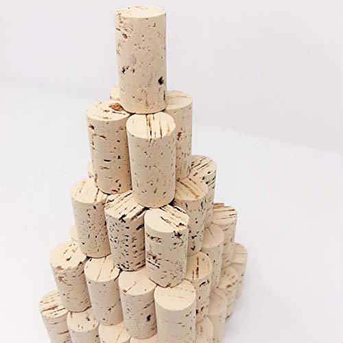 G-Cork Corchos de Vino - Tapones - Botella - Manualidades - Decoración - Bricolage - 24mmx45mm (Claro, 100)