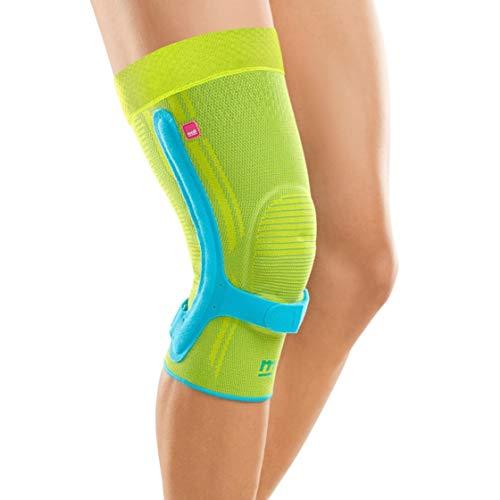 medi Genumedi PSS - Kniebandage unisex | blau/hellgrün | Größe III | Patellasehnenbandage zur Stabilisierung der Patellasehnenansätze | Beidseitig tragbar