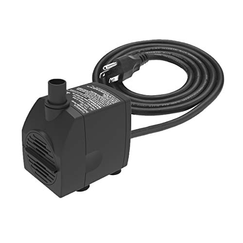Submersible Water Pump 6.1ft Power Cord 200GPH Ultra Quiet Pump with Dry...
