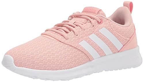 adidas Women's QT Racer 2.0 Running Shoe, Vapour Pink/White/Super Pop, 3.5 UK