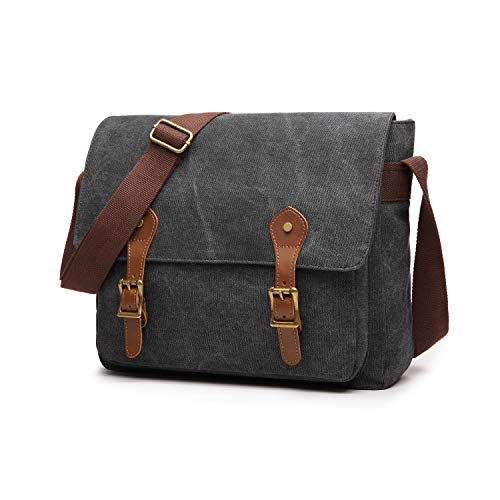 Belegao Messenger bag Schoudertassen Heren Dames - Crossbodytassen Waterbestendig canvas 14 inch laptoptas Meerdere zakken Schooltas for Commute