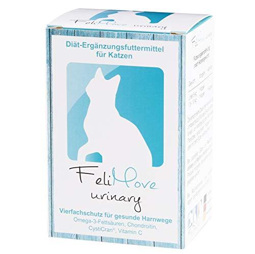 FeliMove 100 Kapseln urinary, Diät-Ergänzungsfuttermittel für Katzen bei Erkrankungen der unteren Harnwege (Fus/FLUTD) mit patentiertem CystiCran (Cranberry-Extrakt), EPA, Chondroitin und Vitamin C