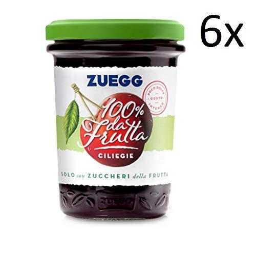 6x Zuegg Ciliegie Marmelade Kirschen Konfitüre 100% Frucht Italien 250g