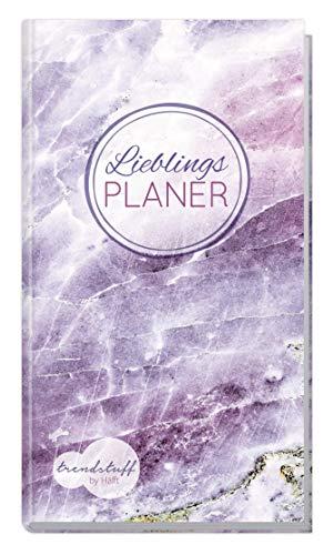 Trendstuff Lieblingsplaner - Wochenplaner Notizbuch A6 liniert [Edelstein] mit 124 Seiten   1 Woche auf 2 Seiten   Mini Notizkalender, Taschenkalender ohne festes Datum