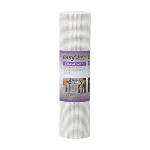 Duck Brand Select Grip EasyLiner Shelf and Drawer Liner, Non-Adhesive, 20-Inch x 24-Feet, White, 281877