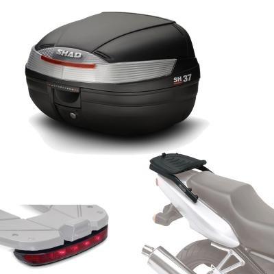 Sh37luhe49 - Kit fijacion y Maleta baul Trasero + luz de Freno Regalo sh37 Compatible con Yamaha Tracer 900 2015-2017 Yamaha mt-09 Tracer 2015-2016