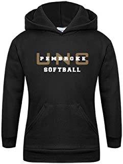 UNC Pembroke Youth Black Fleece Hoodie 'Softball'