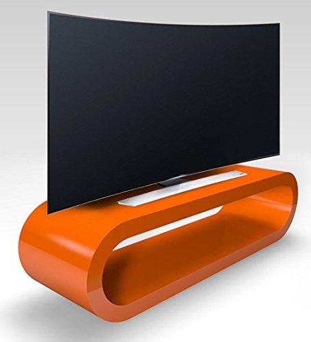 Zespoke Cerceau de Style Rétro Grand Brillant Meuble TV/Armoire 110cm d'orange
