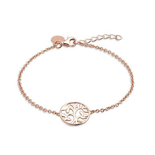 XENOX XS2897R Damen Armband Lebensbaum Symbolic Power Sterling-Silber 925 Rose 20 cm