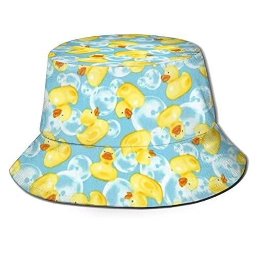 Sombrero del Pescador Minis Rubber Ducks Yellow Sombrero de Pescador Gorra de Sol Plegable para Viajes al Aire Libre en la Playa de Verano