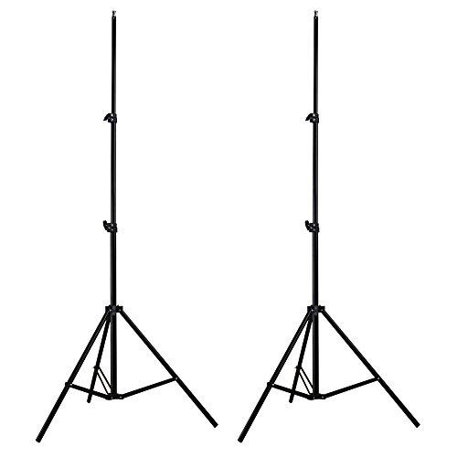 ETiME 2x Lampenstativ Federdämpfung Fotostudio Blitzstativ Softbox Stativ von 68cm bis max.200cm