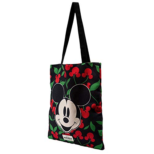 KARACTERMANIA Mickey Mouse Cherry-Bolsa de la Compra Shopping Bag, Negro