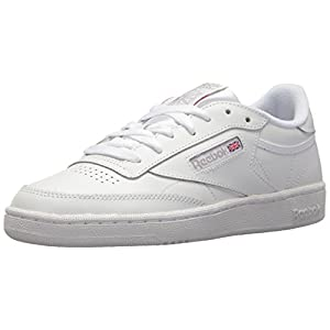 Reebok womens Club C 85 Walking Shoe, White/Light Grey, 7.5 US