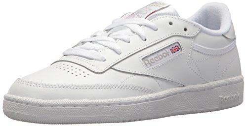 Reebok Womens Club C 85 Walking Shoe, White/Light Grey, 7.5 M US