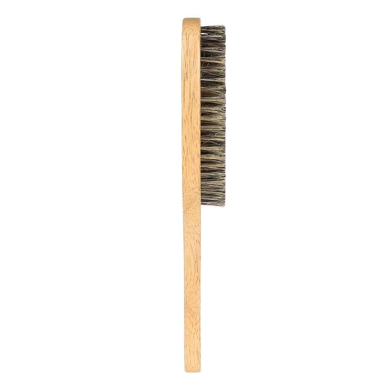 ぺディカブ内向き皮肉なCUTICATE 男性用のひげブラシ、ドライ/ウェット/すべてのサイズのひげスタイルに最適-ひげの整形とスタイリングツール