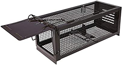 RatzFatz Mouse Trap Humane Live Cage, Catch and Release Mice, Rats, Chipmunks, Small Squirrels and Other Rodents, Sensitivity Adjustable, Pedal Design