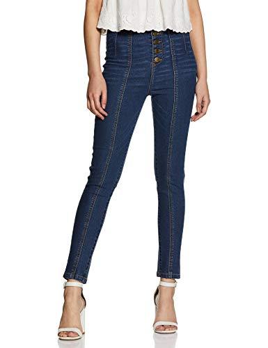 AKA CHIC Women's Slim Fit Jeans (AKCB 1455_ Blue_ 28)