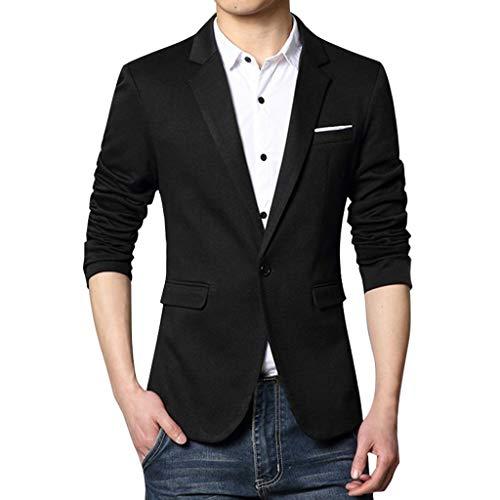 TWISFER Herren Slim Fit Anzug One Button Smoking Blazer Anzugjacke Sakko Sweatjacke Slim fit Einfarbig Modern für Hochzeit Party Abschluss Business