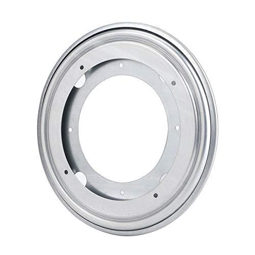 Vipxyc Bandeja giratoria Negra de Hoja galvanizada de 360 Grados Que Tiene cojinetes giratorios de carrusel de Bolas de Metal para taburetes de Bar, sillas, taburetes(Silver, 8 Inch)