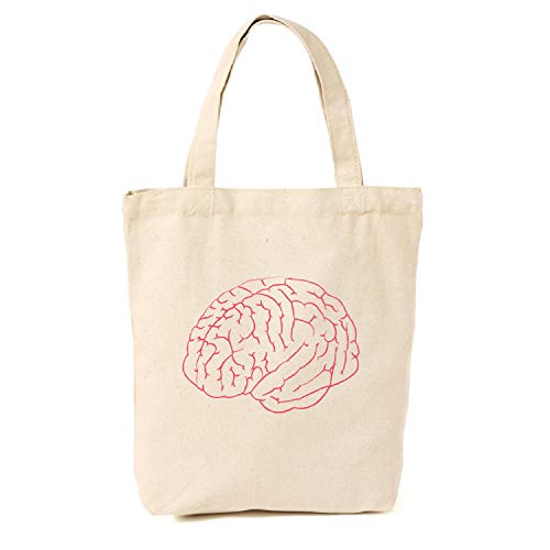 Borsa di tela cervello | Geeky regali per ragazze | Geek Tote | Nerdy Tote | regali per insegnanti