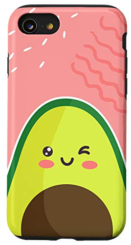 iPhone SE (2020) / 7 / 8 New Funny Kawaii Avocado Food Graphic Abstract Modern Design Case