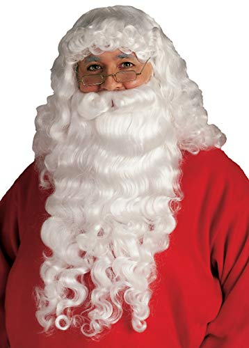 Rubie's Santa Beard and Wig Set, White, One Size