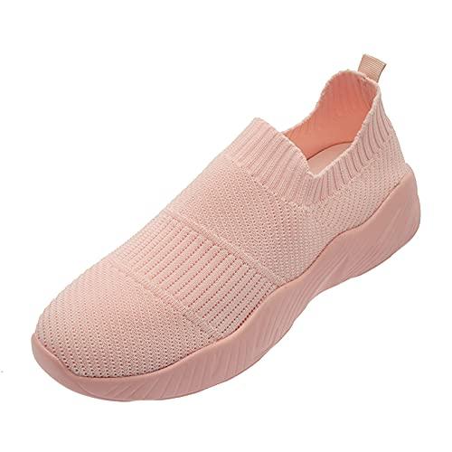 Geilisungren Sportschuhe Atmungsaktiv Damen Schuhe Outdoor Sneakers Freizeit Slip On Bequeme Sohlen Mesh Schuhe Fitness Turnschuhe Sommer Damenschuhe Laufschuhe Wanderschuhe Sportschuhe