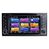 BOOYES para VW Volkswagen Touareg T5 Transporter Android 10.0 Double DIN 7' Reproductor de DVD para automóvil Multimedia Navegación GPS Radio automática Estéreo Auto Auto Play TPMS OBD WiFi Dab SWC