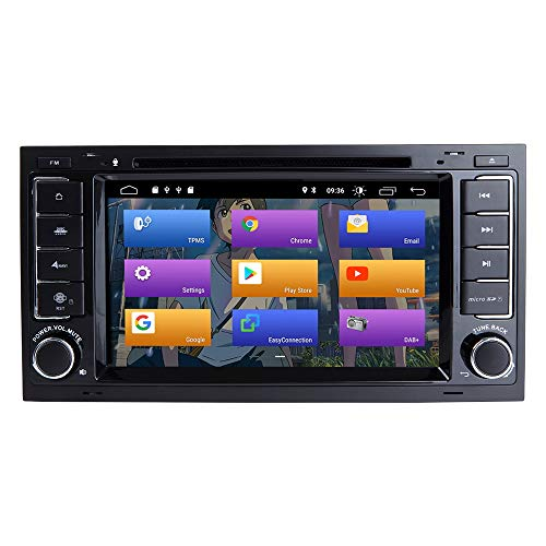 BOOYES para VW Volkswagen Touareg T5 Transporter Android 10.0 Double DIN 7