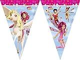 Procos - Guirnalda de banderines Mia And Me, juego de mesa de fiesta, multicolor, PR88151 , color/modelo surtido