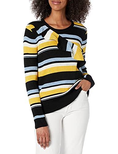 Parker Women's Montego Long Sleeve Striped Sweater, Raya, S