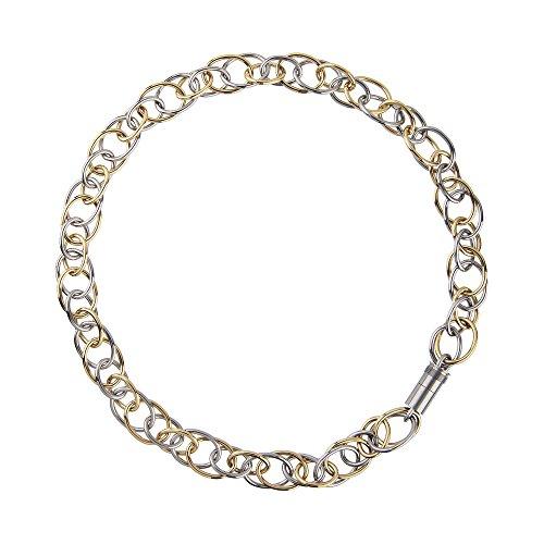 Acciaio catena di oliva Design grave bicolor, K147, 45