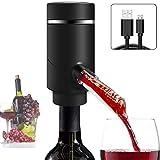 Yunjie Dispensador de Aireador Eléctrico Vino Tinto Dispensador Automático de Oxidante Sobrio Rápido Aireador de Vino para Vino Tinto y Blanco Adapta a la mayoría de Las Botellas